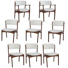 Set of Eight Model 49 Danish Teak Dining Chairs by Eric Buck