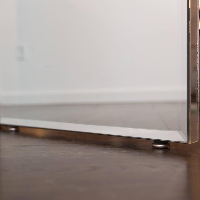 Four-Panel Mirrored Room Divider For Sale 1