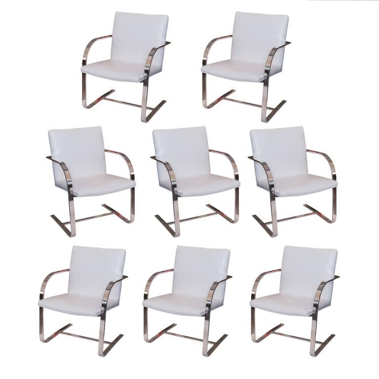 Set of 8 brno style chairs from roche bobois at 1stdibs - Roche bobois chaises ...