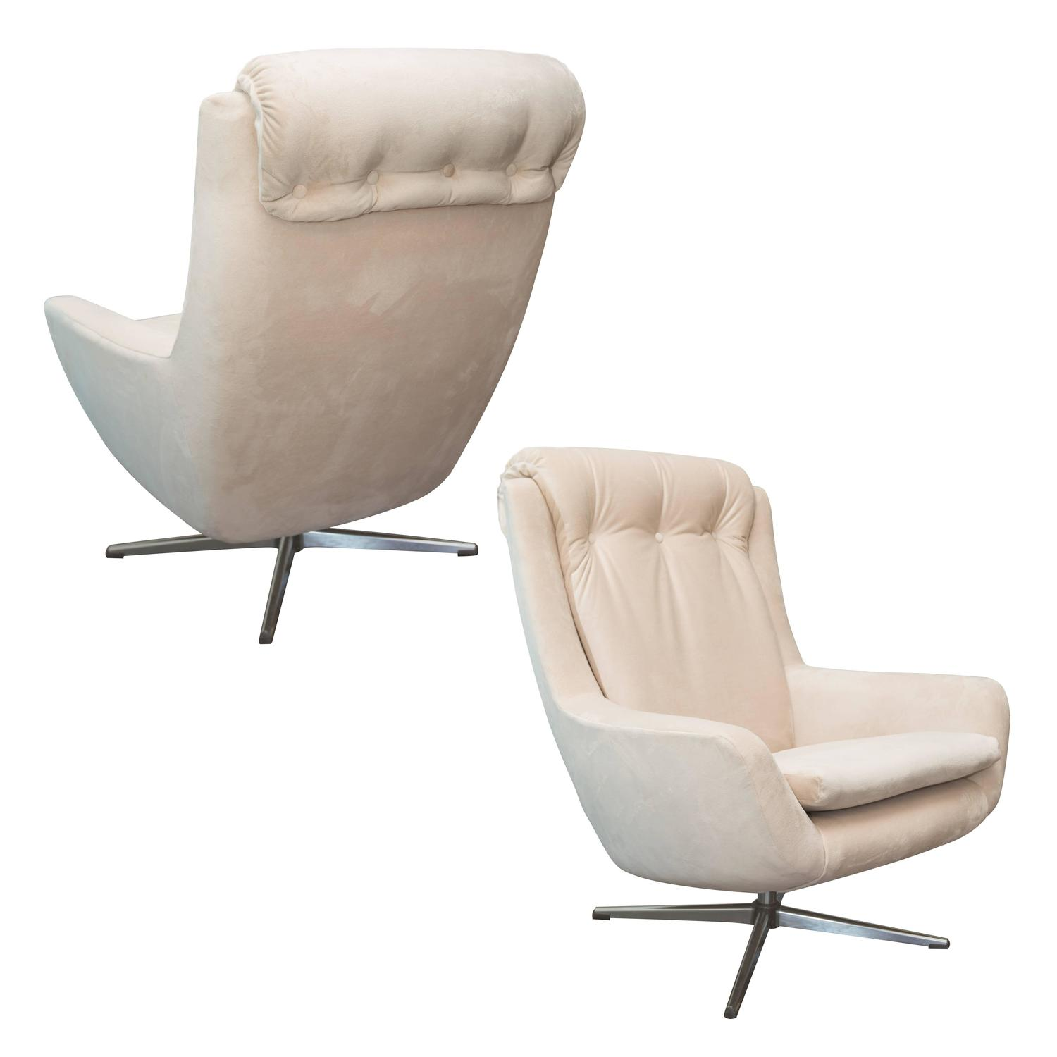 vintage danish modern swivel lounge chair for sale at 1stdibs