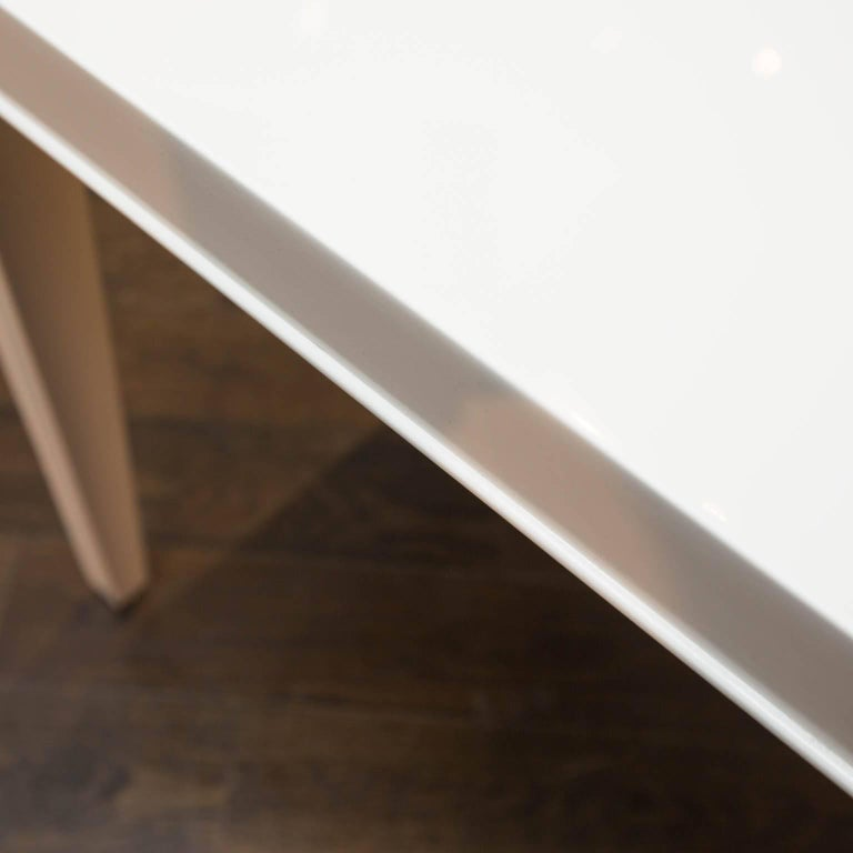 American Midcentury Lacquered Side Table For Sale
