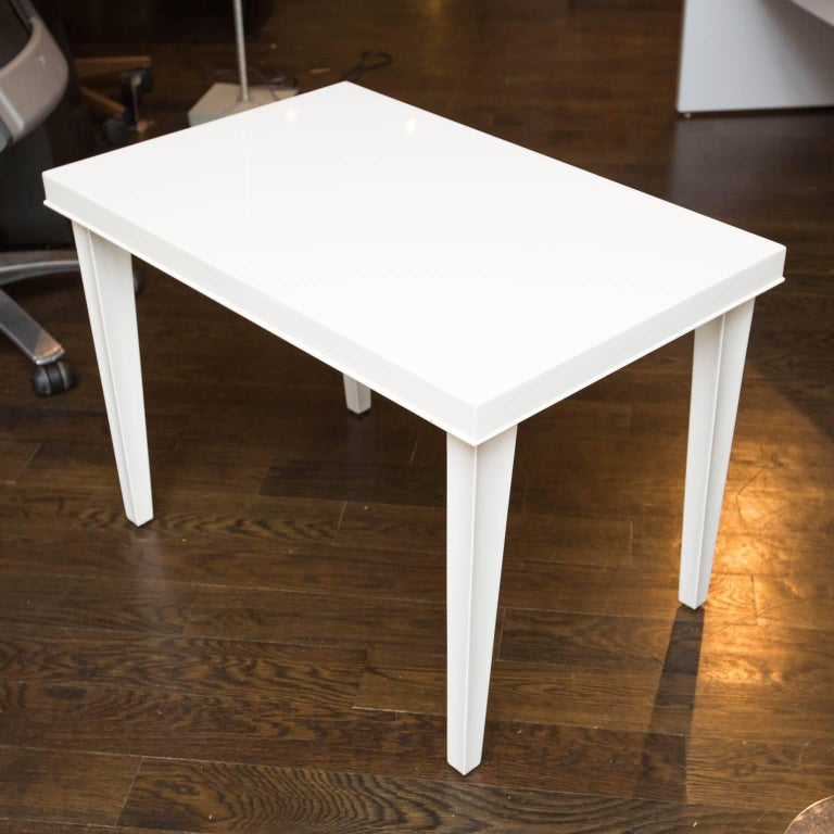 Midcentury Lacquered Side Table For Sale 1