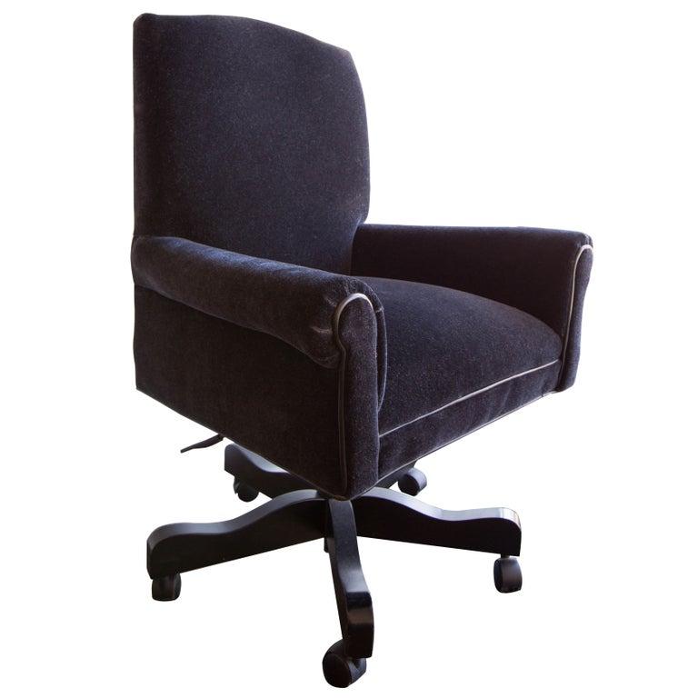 Mohair Executive Desk Chair