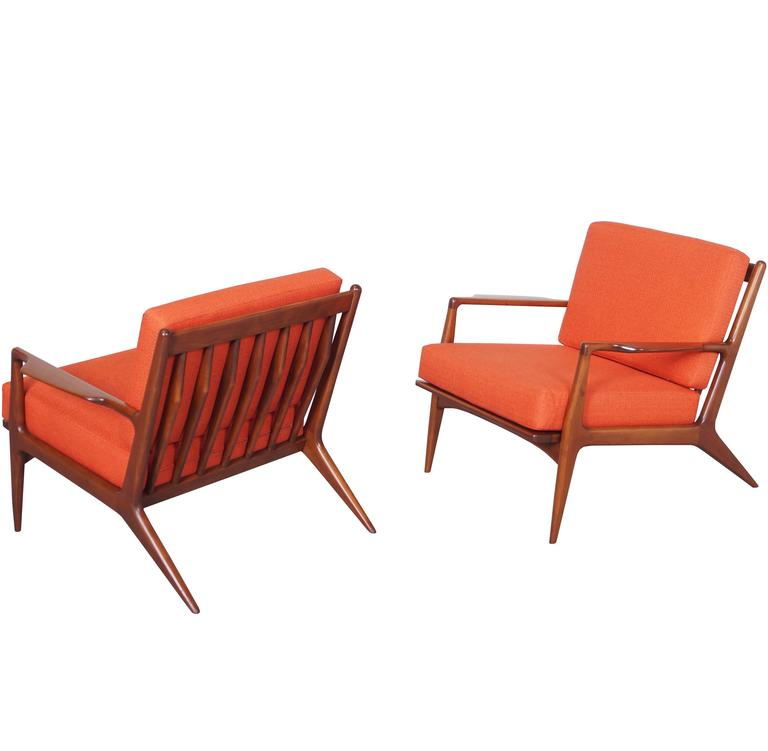 Danish Lounge Chairs by Ib Kofod Larsen For Sale at 1stdibs