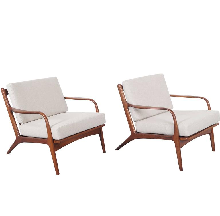 Bon Vintage Walnut Lounge Chairs By Adrian Pearsall For Craft Associates For  Sale