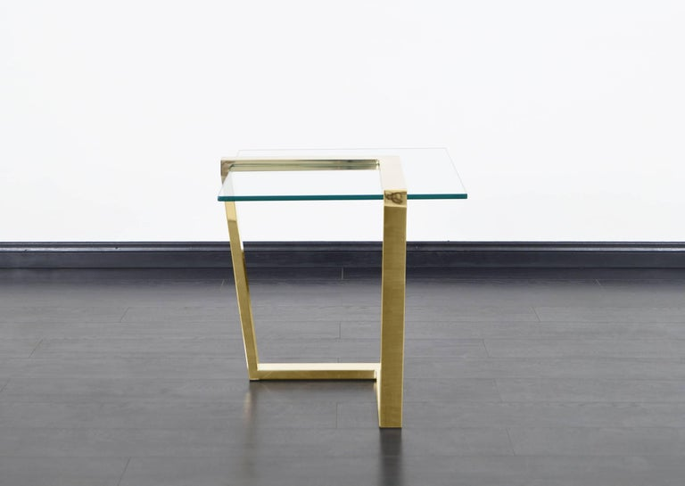 Vintage Brass Cantilevered Side Tables by DIA In Good Condition For Sale In Burbank, CA