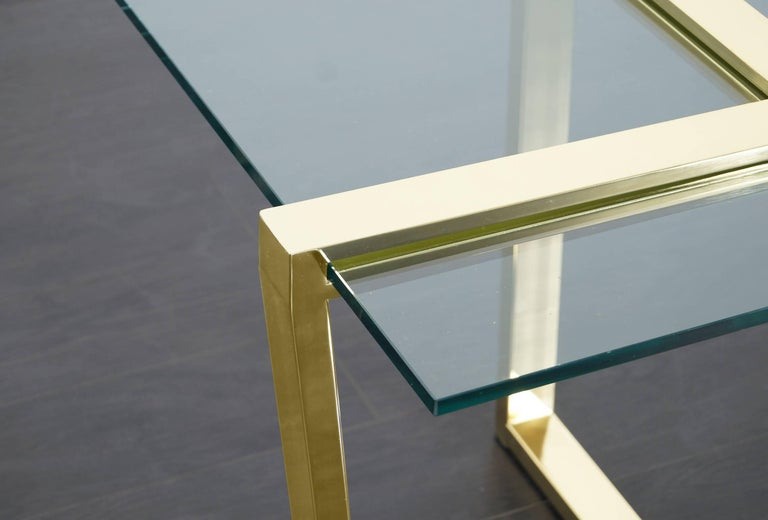 Vintage Brass Cantilevered Side Tables by DIA For Sale 2