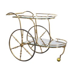 Vintage Italian Brass Bar Cart