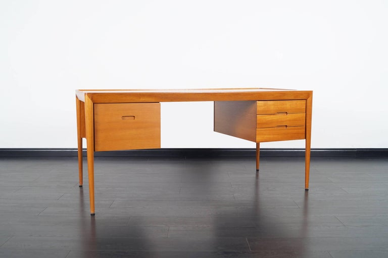 Scandinavian Modern Danish Teak Desk by Erik Riisager Hansen  For Sale