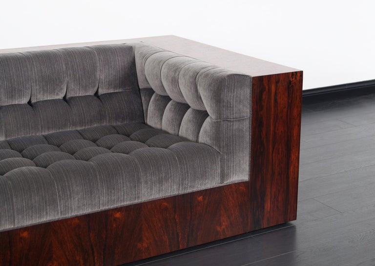 Mid-Century Modern Thayer Coggin Rosewood Sofa by Milo Baughman For Sale