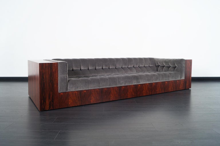 American Thayer Coggin Rosewood Sofa by Milo Baughman For Sale