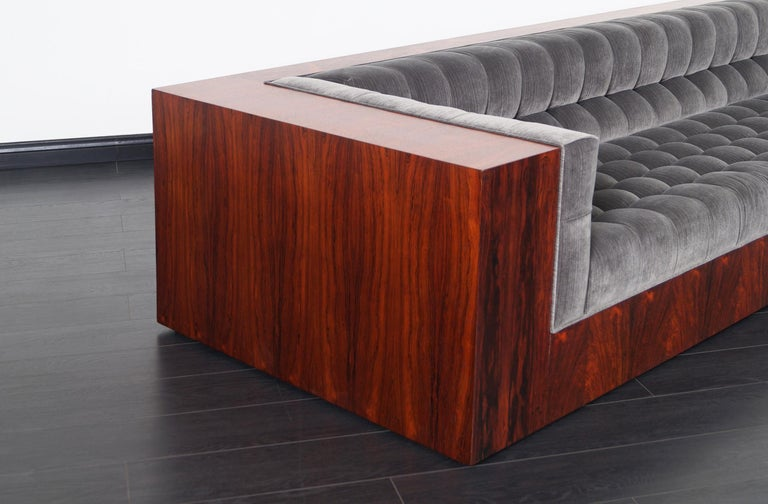 Thayer Coggin Rosewood Sofa by Milo Baughman In Excellent Condition For Sale In Burbank, CA