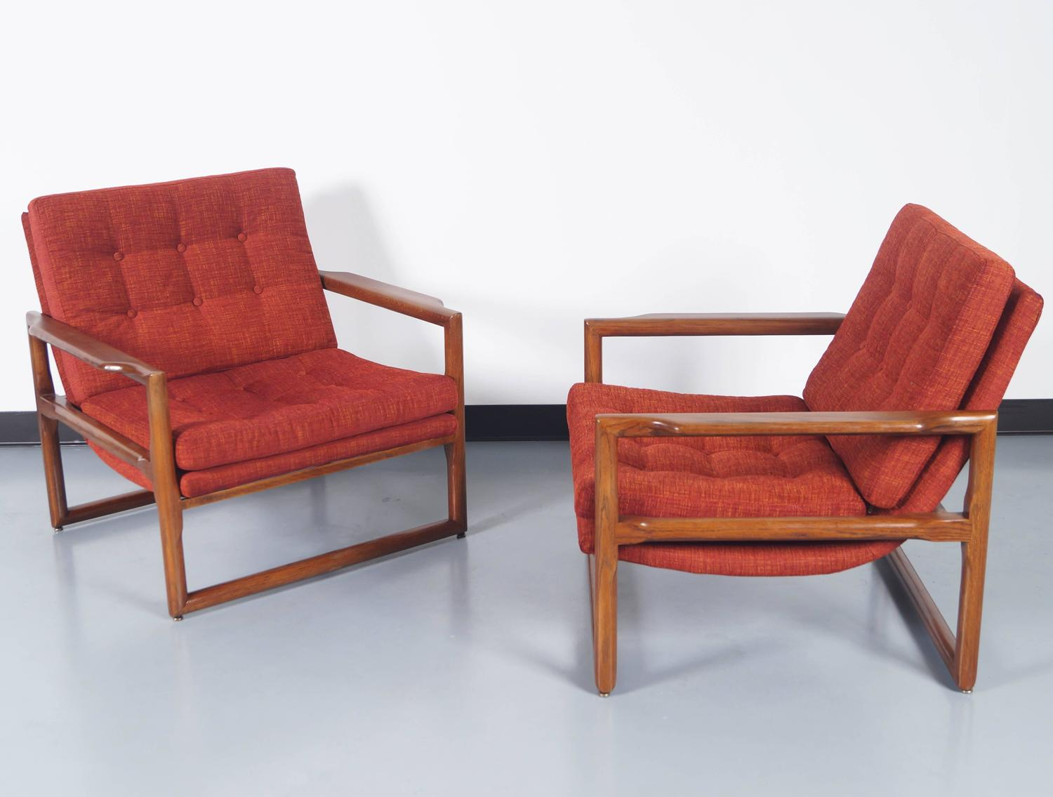"Vintage ""Cube"" Lounge Chairs by Milo Baughman For Sale at"