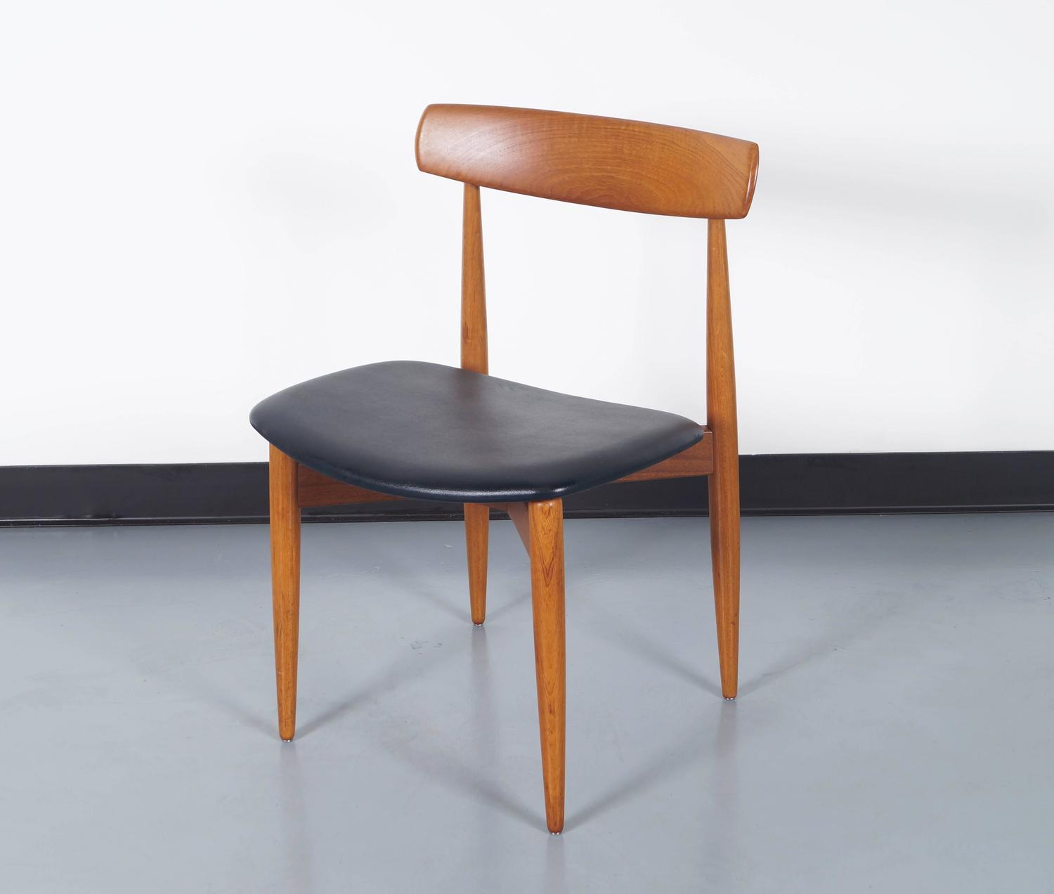 Danish Teak Dining Chairs by H W Klein For Sale at 1stdibs