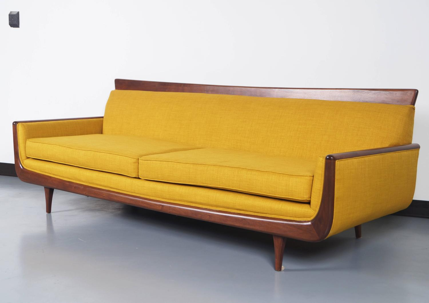 Mid century modern walnut sofa at 1stdibs for I contemporary furniture