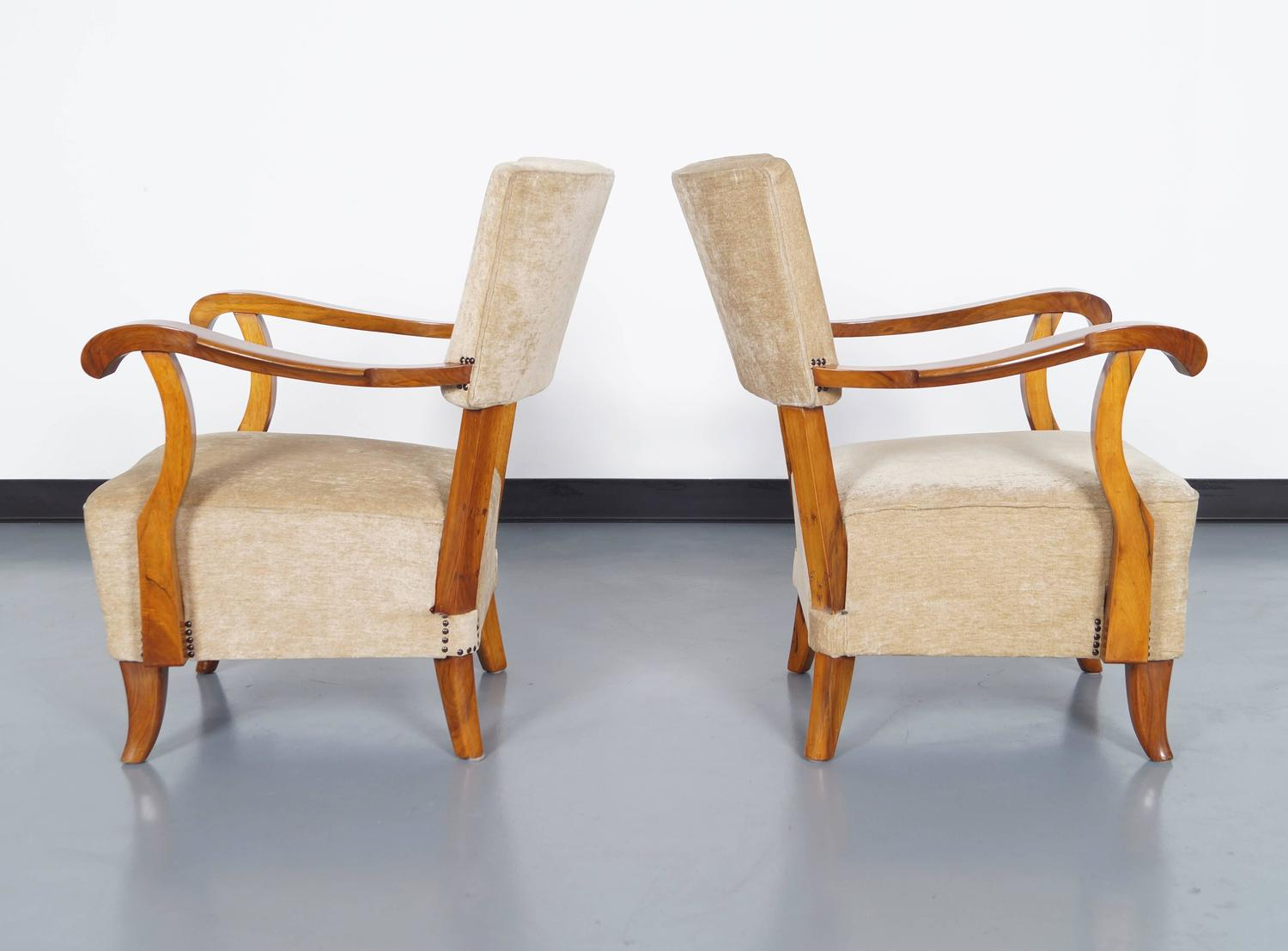 Vintage French Art Deco Lounge Chairs For Sale At 1stdibs