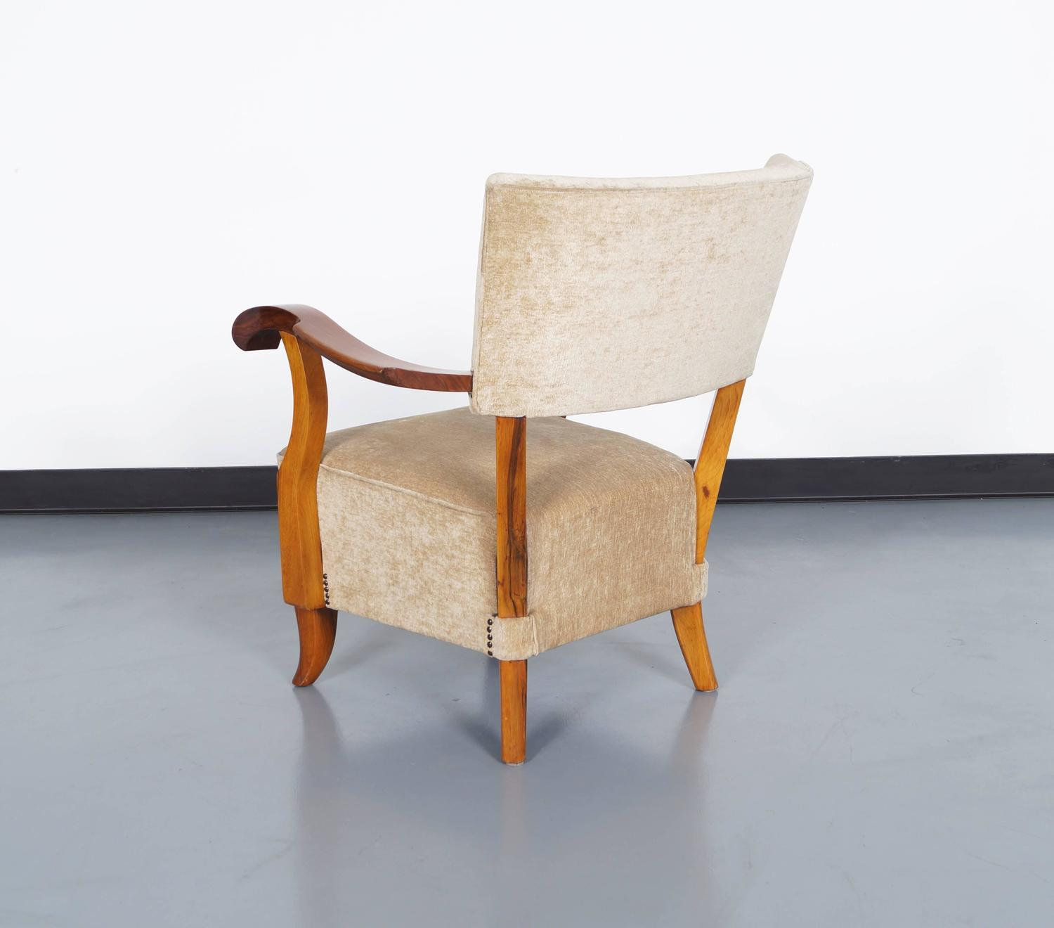 Vintage french art deco lounge chairs for sale at 1stdibs - Deco lounge oud en modern ...