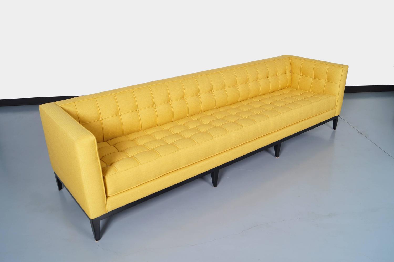 "Elegant Tufted ""Vista"" Sofa by Cruz Design Studio For Sale"