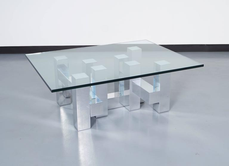 Architectural cityscape coffee table by paul mayen for for Architectural coffee table