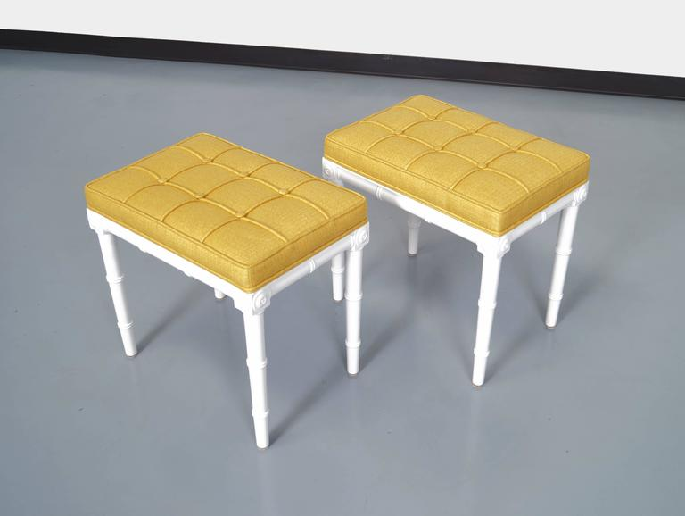American Vintage Faux Bamboo Stools For Sale
