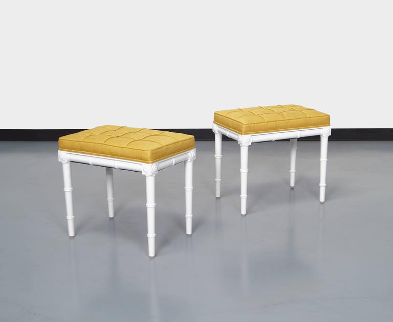 Vintage Faux Bamboo Stools For Sale 1