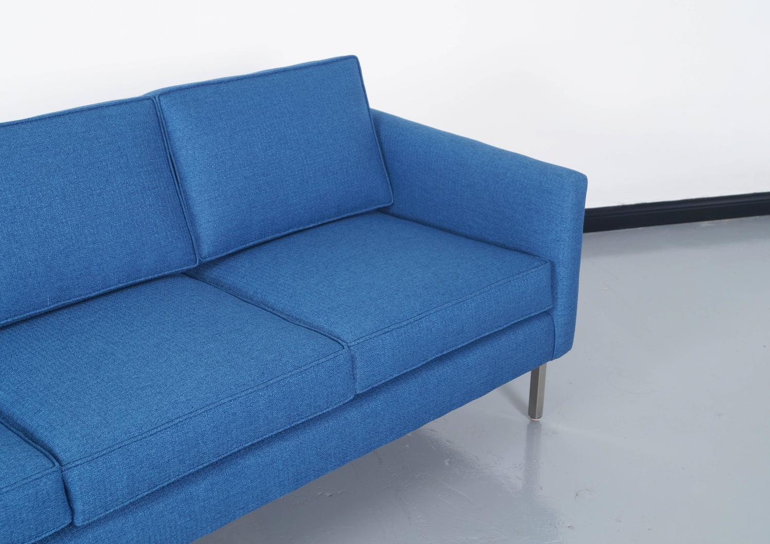 Mid Century Modern Loveseat : Mid-Century Modern Chrome Sofa at 1stdibs