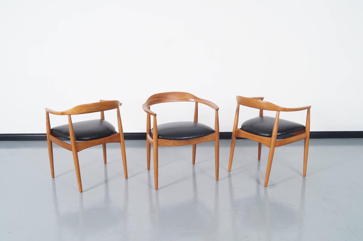 Danish modern dining chairs by niels eilersen for sale at Danish modern furniture