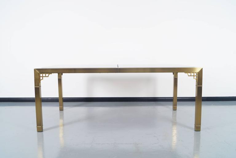 Vintage Brass Dining Table by Mastercraft at 1stdibs