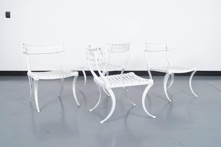"Vintage Cast Aluminum ""Klismos"" Dining Set by Thinline 2"