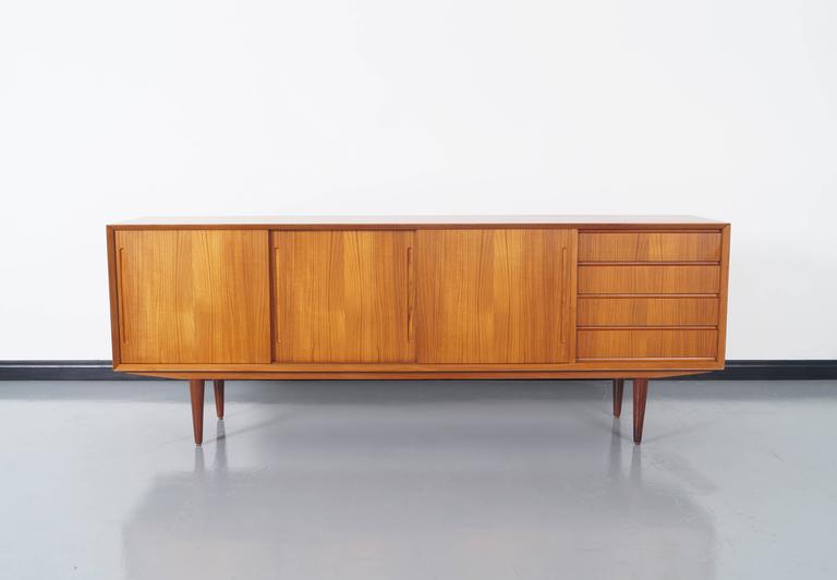 Danish Style Credenza : Danish modern teak sideboard at 1stdibs