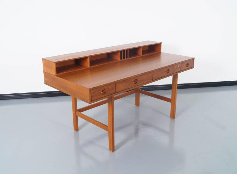 Danish Teak Flip Top Desk By Jens Quistgaard 3