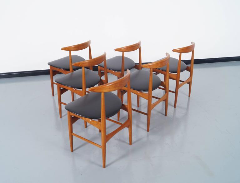 Scandinavian Modern Danish Teak Dining Chairs by Mogens Kold For Sale