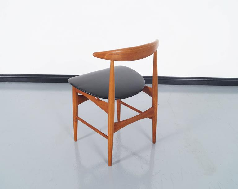 Danish Teak Dining Chairs by Mogens Kold For Sale 1