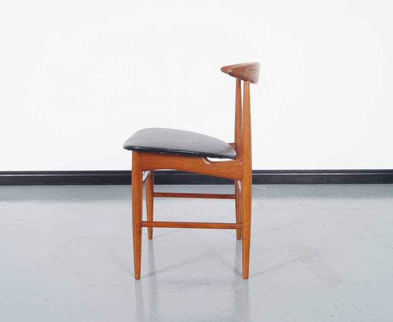 Danish Teak Dining Chairs by Mogens Kold For Sale 2