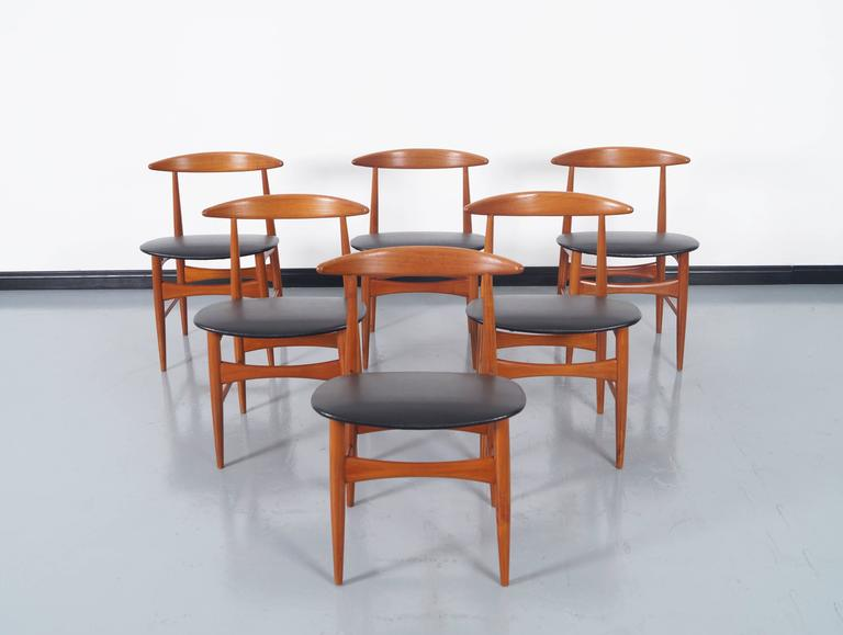 Danish Teak Dining Chairs by Mogens Kold For Sale 3
