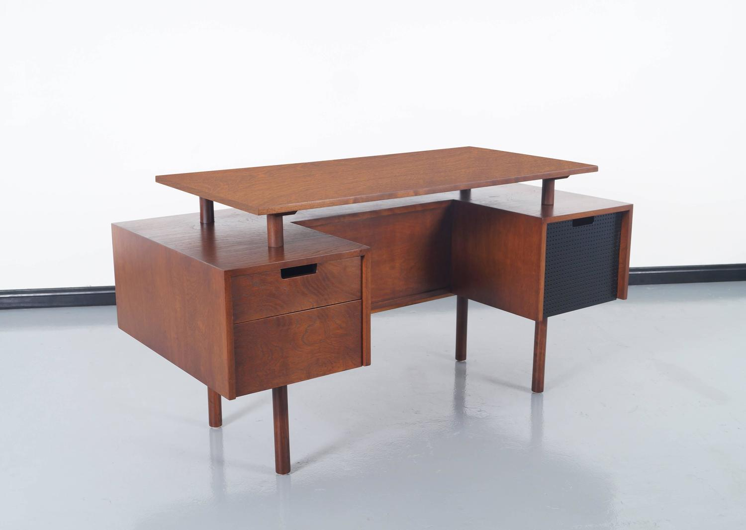Early floating top desk by milo baughman for sale at 1stdibs for Floating desk for sale