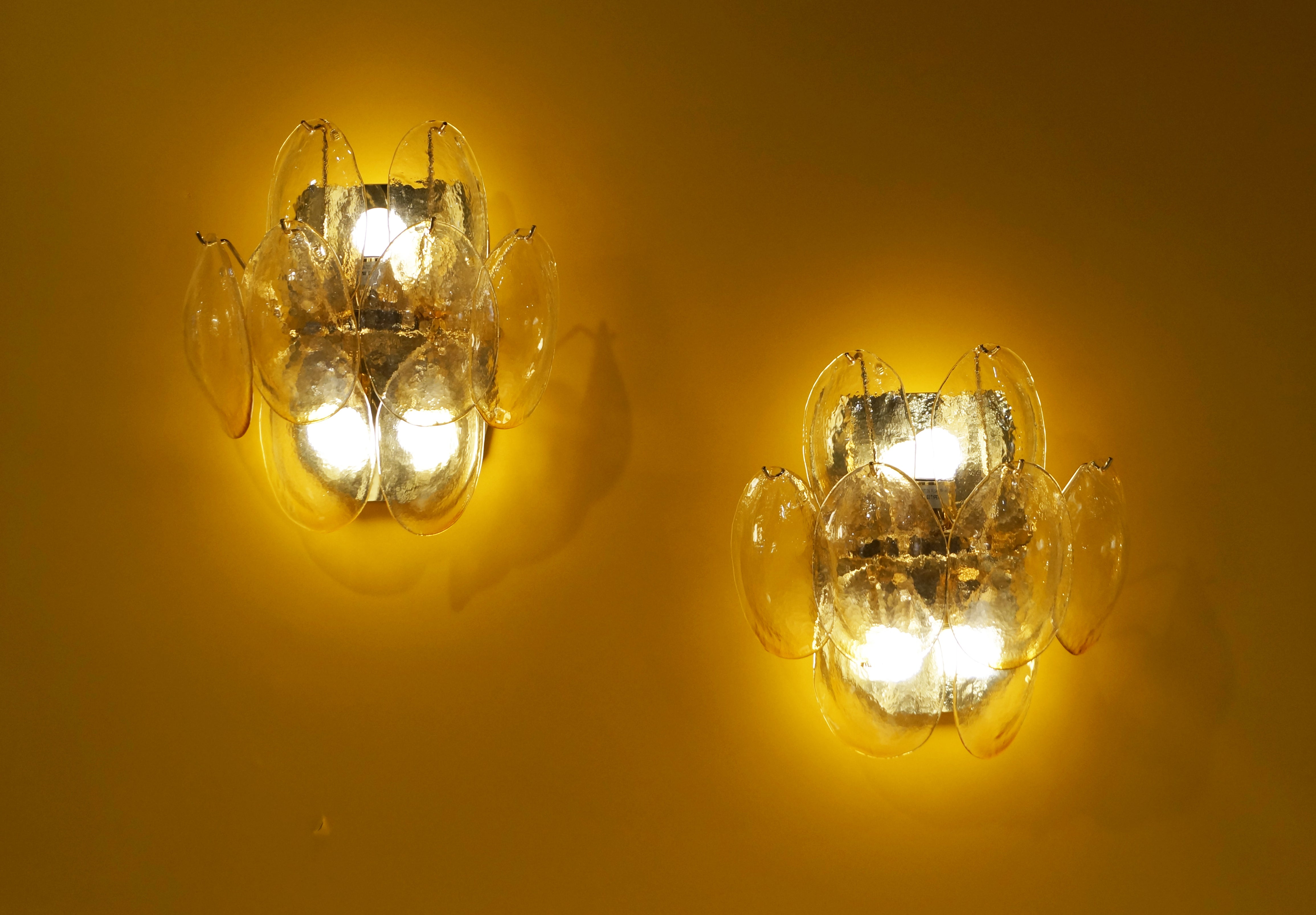 Vintage Murano Glass Wall Sconces at 1stdibs