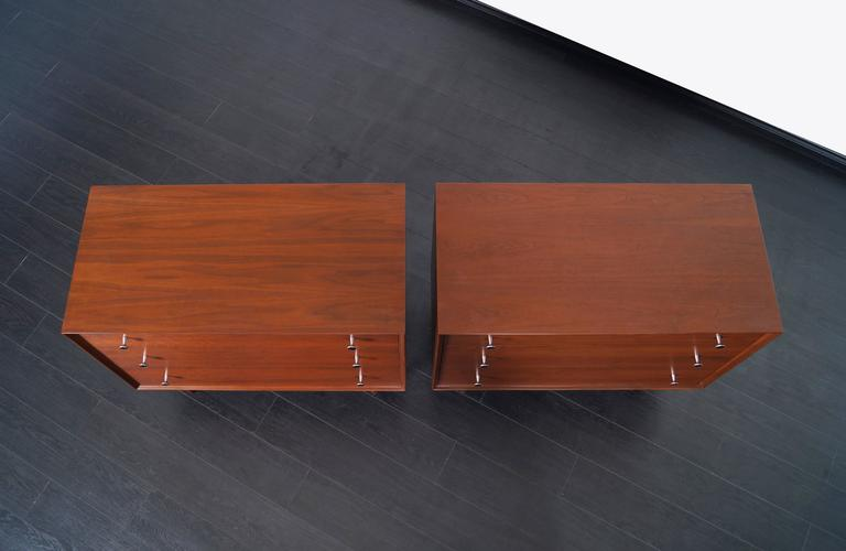 Aluminum Vintage Walnut Chest of Drawers by Robert Baron For Sale