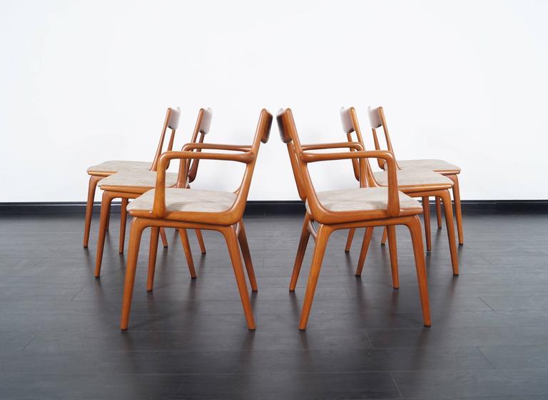 Wonderful Fantastic Set Of Six Danish Modern Teak