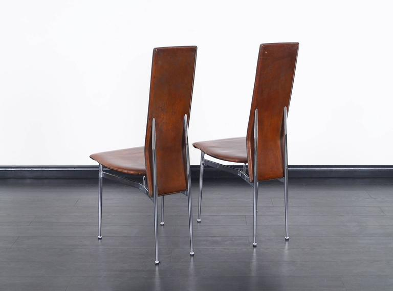 Italian Leather Dining Chairs At 1stdibs