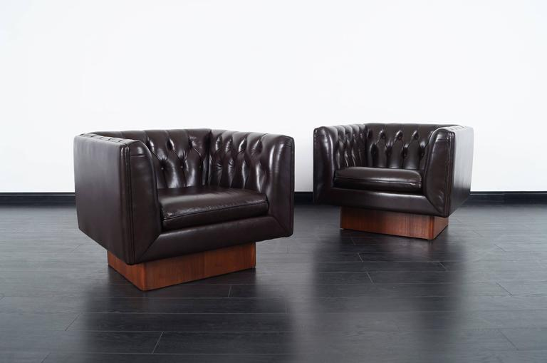 Stunning Tufted Leather Lounge Chairs Designed By Milo Baughman. These  Chairs Are Simply Amazing!