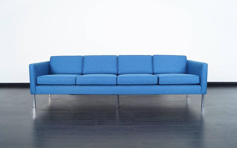 Mid-20th Century Mid-Century Modern Chrome Sofa in the Manner of Harvey Probber For Sale