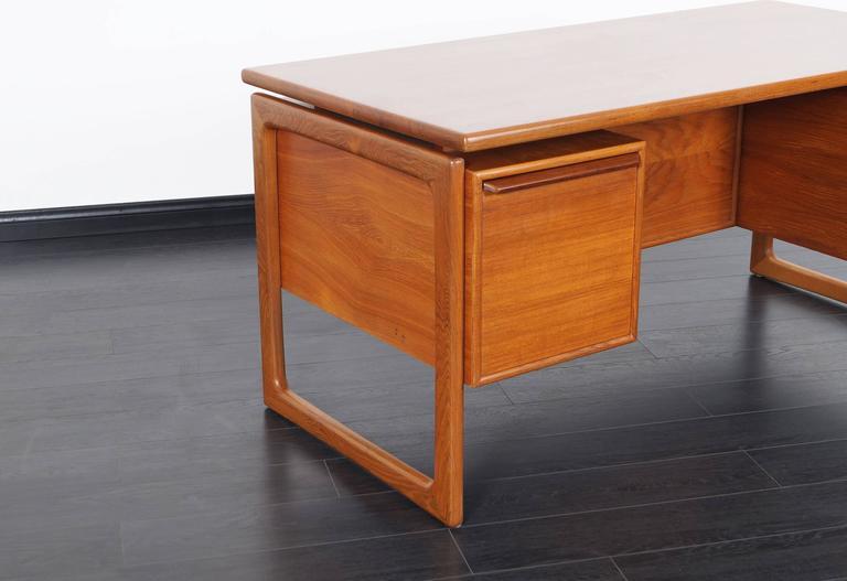 Danish Modern Teak Desk 4