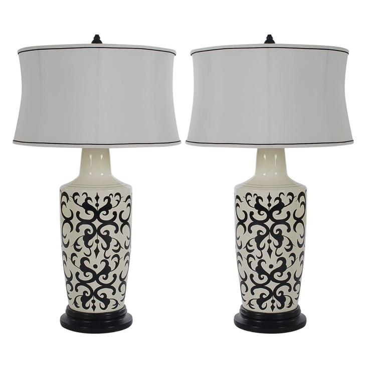 Pair of Hollywood Regency Table Lamps by Shine by S.H.O