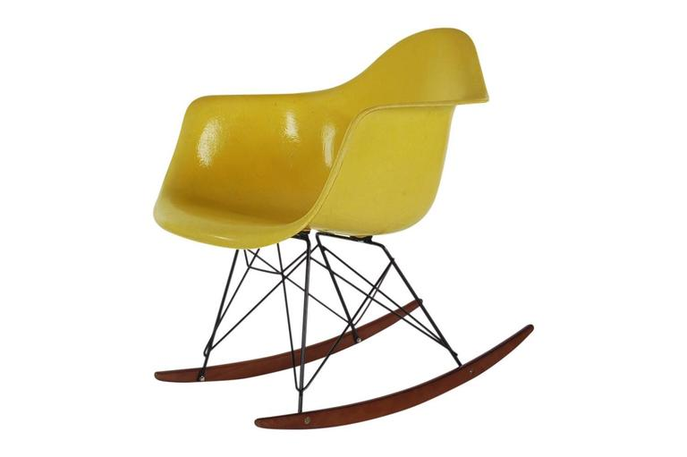 ... Rocking Lounge Chair In Yellow For Sale. Here We Have An Iconic Design  Classic From The Mid Century Modern Period. This