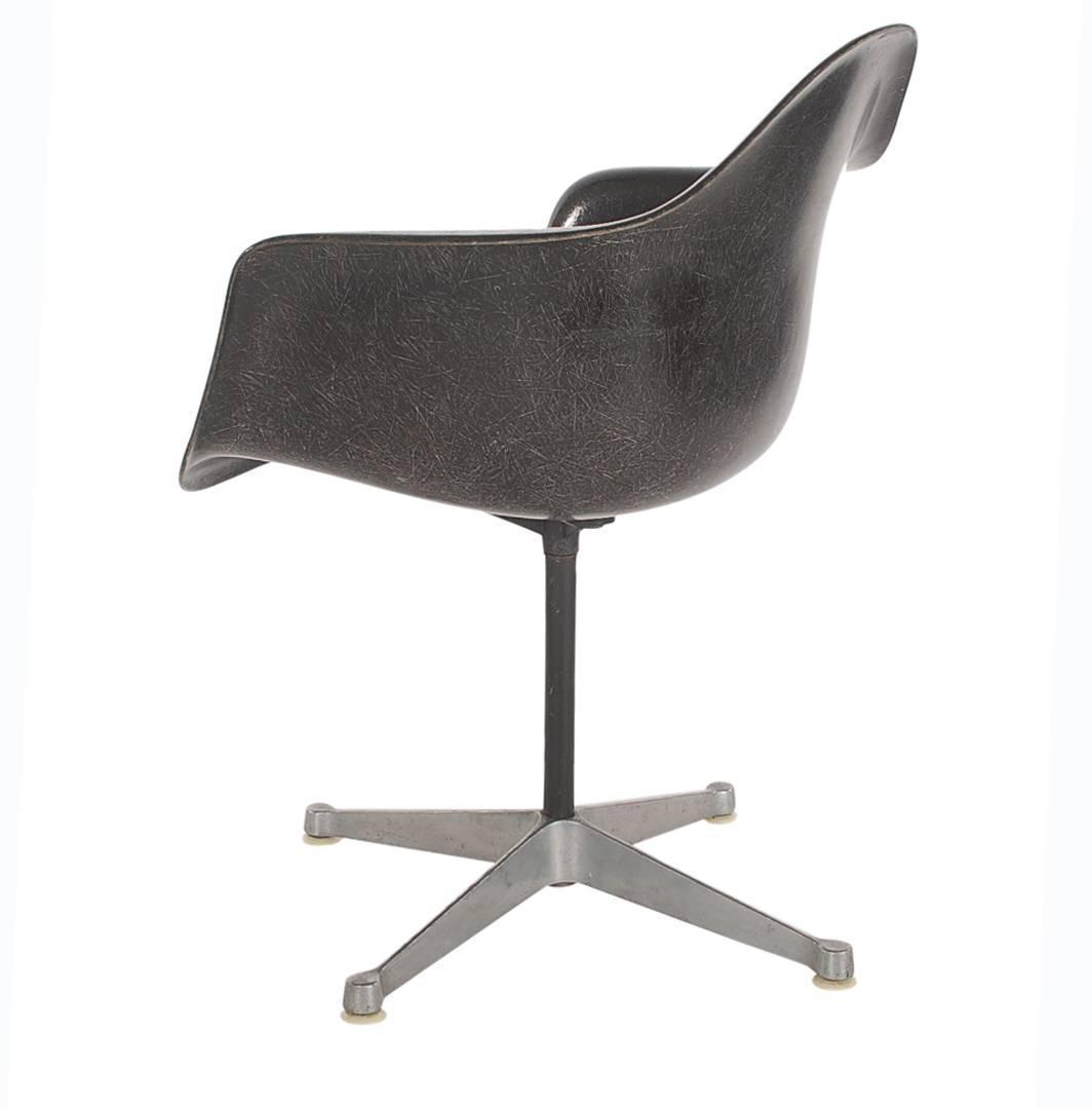 Jet Black Mid Century Eames For Herman Miller Fiberglass