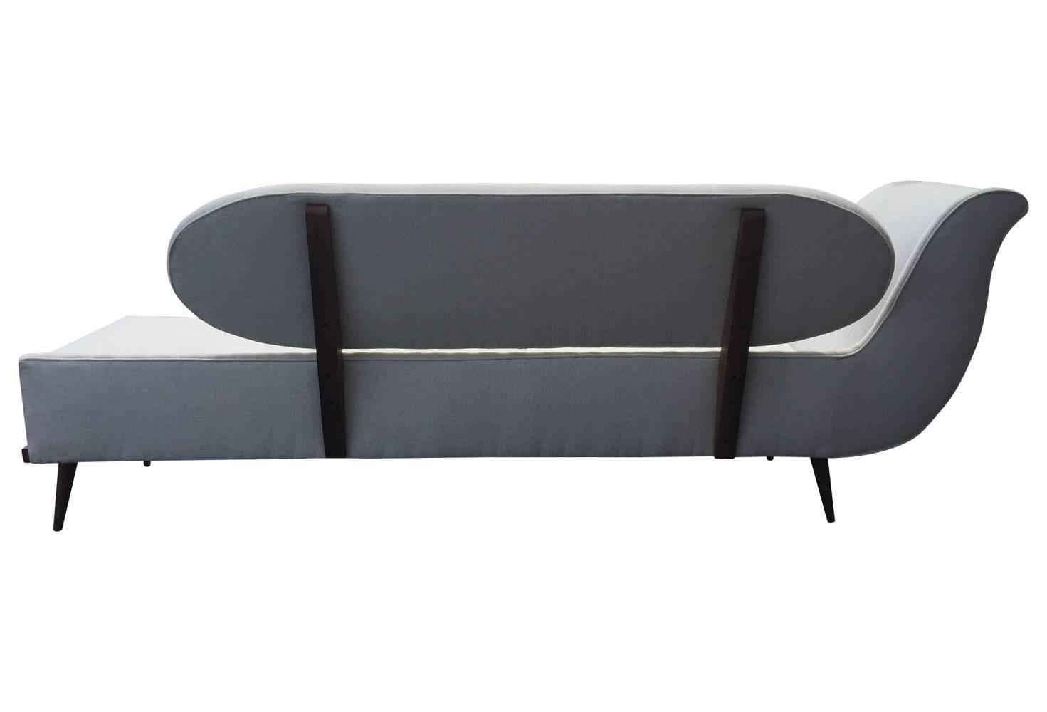 Exquisite Mid-Century Modern Sofa Settee By Cimon Of
