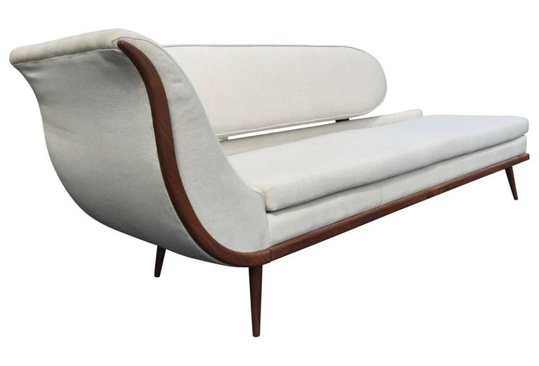 exquisite mid century modern sofa settee by cimon of montreal at 1stdibs