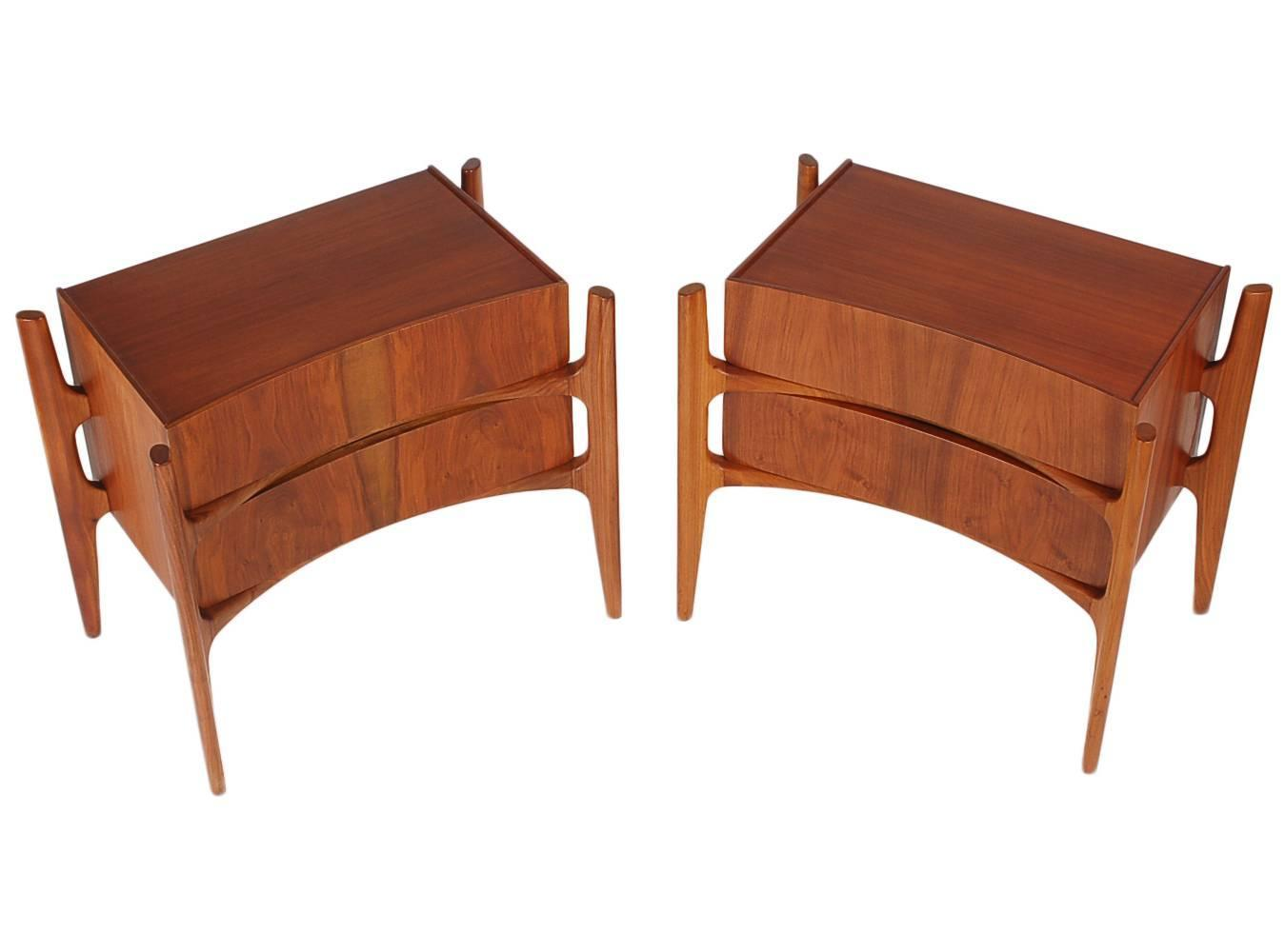 Sir edmond spence mid century sculptural nightstands or for Z furniture philadelphia
