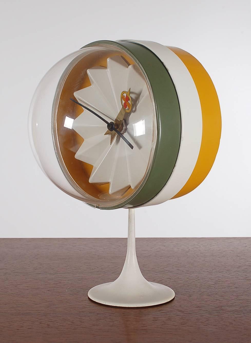 mid century modern george nelson for howard miller desk or table clock